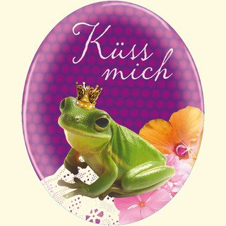 Magnet Frosch - Küss mich: (Verkaufseinheit)