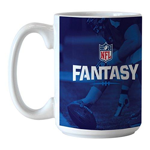 Boelter Brands NFL Fantasy fútbol Sublimated Taza de café, 15-Ounce, Unisex, Azul