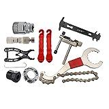 HomeDecTime Kit de Herramientas de Reparación de Bicicletas 9 en 1, Tirador de Manivela