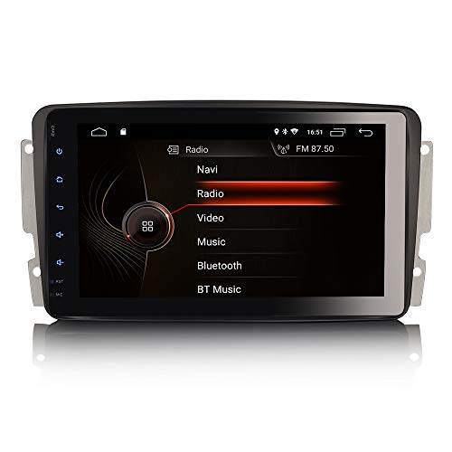 ERISIN 8 Pulgadas Android 10.0 Autoradio para Mercedes Benz C/CLK/G Class W203 Viano Soporte GPS Sat Nav Carplay Android Auto DSP Bluetooth WiFi 4G Dab + TPMS Mirror Link 2GB RAM + 16GB ROM