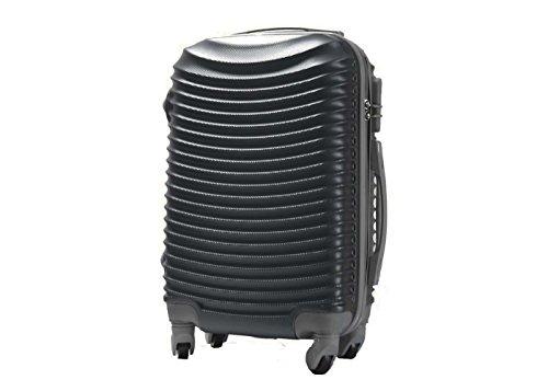 Trolley da cabina valigia rigida 4 ruote in abs policarbonato antigraffio e impermeabile compatibile voli lowcost come Easyjet Rayanair art 6802 / piccola grigio