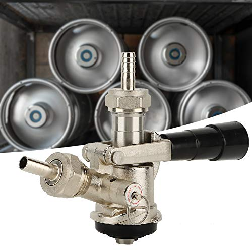 Acoplador de barril, exquisito sistema de tipo D del acoplador de barril de cerveza con válvula de alivio de presión de seguridad Dispensador de cerveza para productos domésticos de EE. UU.