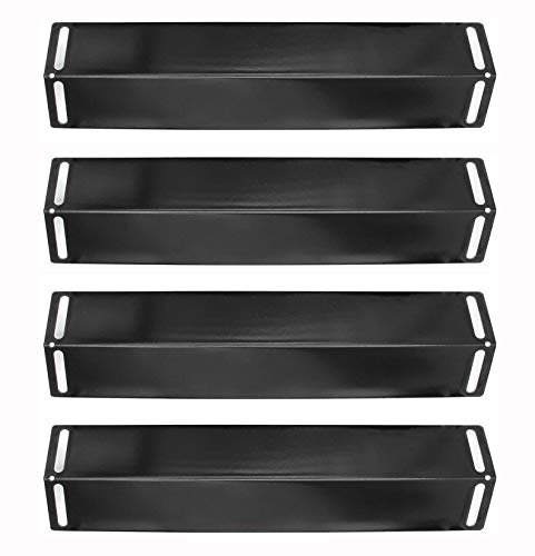 Hongso 16 1/2 Inch Porcelain Steel Heat Plate Shield Heat Tent Burner Cover, Vaporizor Bar, and Flavorizer Bar Replacement for BBQ Grillware, Uniflame, Charbroil,Grill Chef and Others PPB151 (4-Pack)