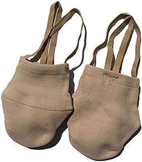 DACHENGJIN Calcetín de gimnasia rítmica zapatos suaves La mitad de los calcetines de baile moderno gimnasio Accesorios Ginástica elástico zapatos de baile de gimnasia de color caqui (L (38-41)) DACHEN
