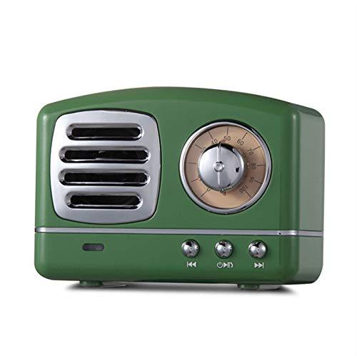 JUNPE Altavoz Bluetooth de la Vendimia con Altavoz inalámbrico portátil para el Viaje en casa, Viaje Interior al Aire Libre (Color : Green)