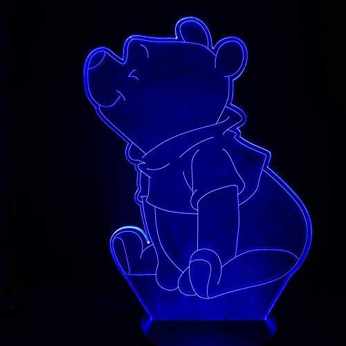 ADIS Schöne Winnie Led Nachtlicht Die Pooh Sensor Dekor Bär 3D Lampe Teenager Lieblings Mr Sander USB Nachtlicht Nachttisch