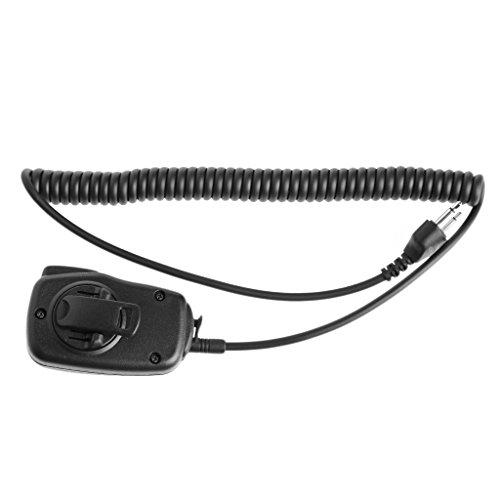 SimpleLife Altavoz Remoto Hombro/Altavoz de Mano Micrófono de micrófono con PTT para Radio de Dos vías ICOM Walkie Talkie 2-Pin