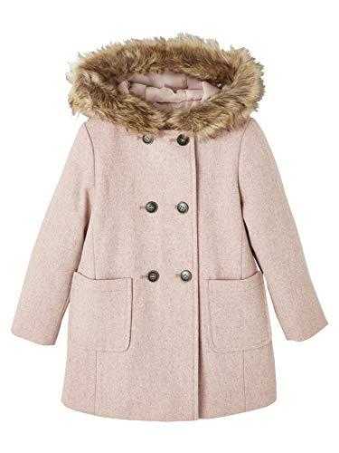 Vertbaudet Duffle-Coat mit Kapuze, Mädchen, Doppelknöpfe, aus Wolltuch Gr. 2 Jahre, Rosa
