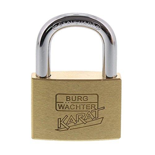 Burg-Wächter 50/6 Zylinder-Vorhangschloss, 8 mm Bügelstärke, Kneifschutz, 6 Schlüssel, Karat 217 50/6 SB, Bügelhöhe: 27,5 mm