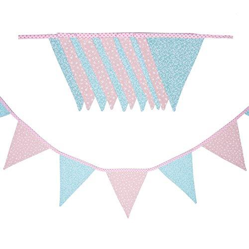 cozydots Guirnalda de banderines de Doble Cara Guirnalda de Tela, guirnaldas Coloridas para Decorar la habitación de los niños, decoración de Fiestas (spring, 200)