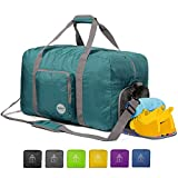 WANDF 24' Foldable Duffle Bag 60L for Travel Gym Sports Lightweight...