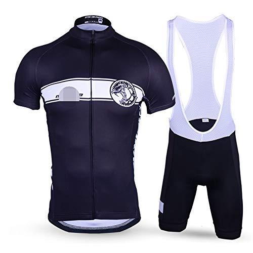 Conjunto Ciclismo Maillot,Trajes De Ciclismo Suaves, Transpirables, De Secado Rápido, Negros, De...