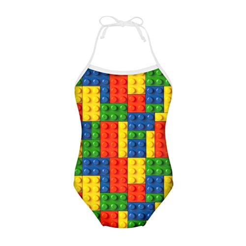 Chaqlin - Bañador para niñas y niños de 3 a 8 años Bloque de juguetes 3-4 Años