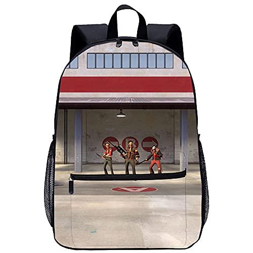 Mochila Infantil 3D Mochilas Escolares para Niñas y Niños de Team Fortress Adecuado para: estudiantes de primaria y secundaria, la mejor opción para viajes al aire libre Tamaño: 45x30x15 cm / 17 pul