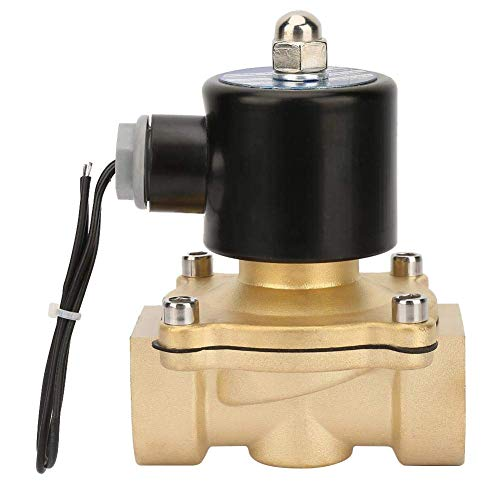 JUNYYANG Válvula solenoide eléctrica, controlador de fluidos DC 24V NC Interruptor magnético eléctrico DN25 IP65 Válvula electromagnética de latón de 2 vías para cerrado normalmente
