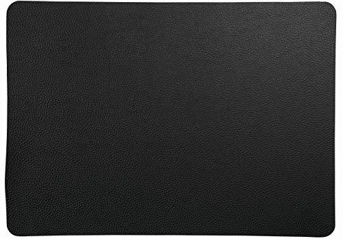 ASA Set de Table en Cuir PVC Noir, 46 cm