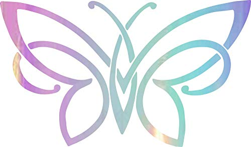 NBFU Decals Celtic Knot Butterfly (Holographic Opal Purple) (Set of 2) Premium Waterproof Vinyl Decal Stickers for Laptop Phone Accessory Helmet Car Window Bumper Mug Tuber Cup Door Wall Decoration