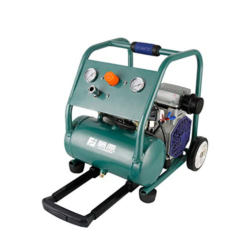 Review Air Tools Ultra Quiet & Oil-Free 750W Steel Tank Air Compressor, Pull rod type portable air p...