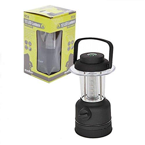 Summit PMS 12 LED Lanterne avec Batteries col Box – Noir