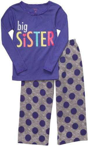 Carter's 2-delige fleece meisjespyjama maat 86/92 big sister 2-delig pajama lila