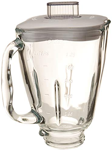 Oster 4918 5-Cup Glass Jar with Lid and Filler Cap Blender Accessory