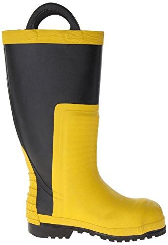 Viking Footwear Firefighter Chainsaw Waterproof FR Boot,Yellow/Black,9 M US