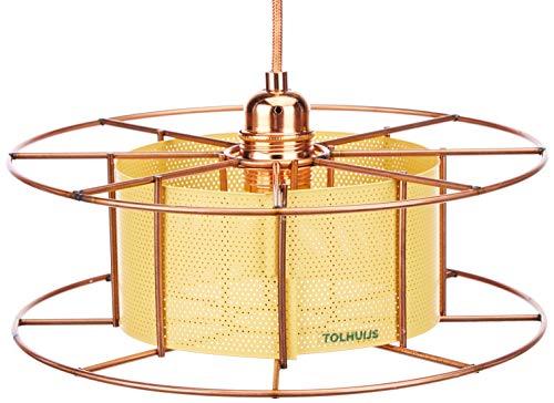 Tolhuijs vloerlamp, koper, geel, één maat