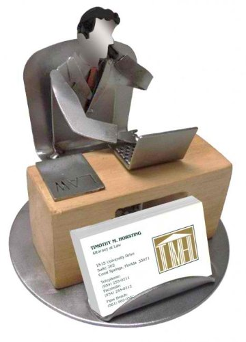 H&K Steel Sculptures Attorney Business Card Holder