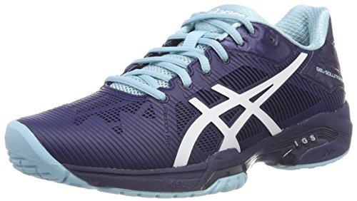 Asics Gel-Solution Speed 3, Zapatillas de Tenis Mujer, Multicolor (Indigo Bluewhiteporcelain Blue), 36 EU