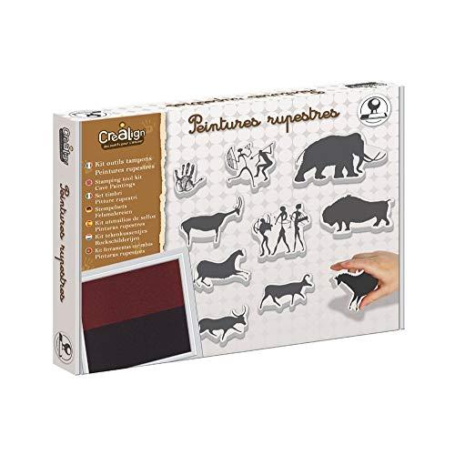 Crea Lign- Kit de herramientas para sellos de pintura rugosa, CL108, marrón