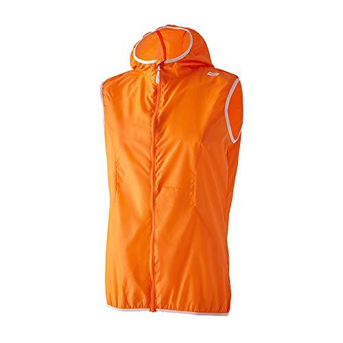 42K Running - Gilet tecnico Waterproof Vest, Unisex - Adulto, Gilet, Arancione/Bianco, XS