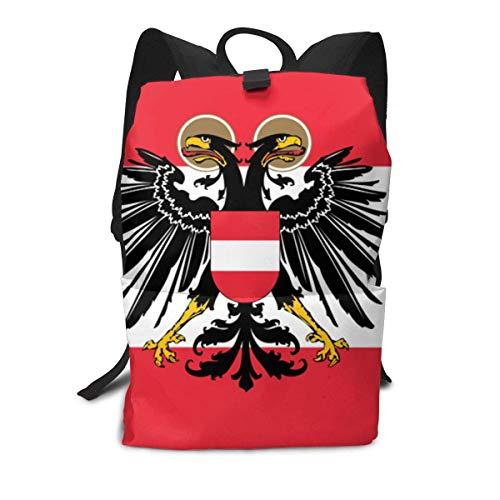 KJHF Bandera austríaca Mochila para Adultos Mochila para Libros Mochila de Viaje Bolsa para computadora portátil Bolsa de Hombros