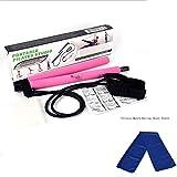 Pilates Bar Kit/Barre d'exercice De Yoga avec Boucle De Pied/Serviette De Fitness Yoga/Exercice à Domicile pour Homme Femme Enfant âGé,Black Yoga Towel-Pink Pilates Stick