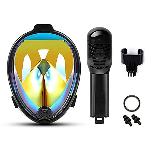 XKMY Máscara de buceo de cara completa, máscara de buceo antivaho ajustable, máscara de buceo, silicona líquida, equipo de natación subacuática (color: multicolor, tamaño: S/M)