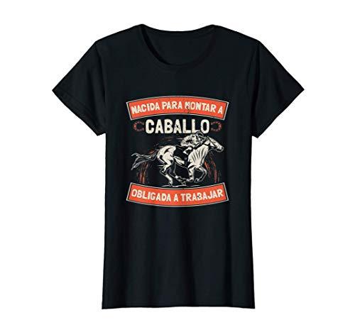 Camiseta de caballo para mujer regalo jinete niña Camiseta