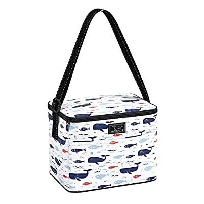 SCOUT Ferris Cooler Insulated Lunch Box for Women, Water-Resistant Soft Cooler Lunch Bag with Adjustable Strap in All is Whale Pattern (Multiple Patterns Available)