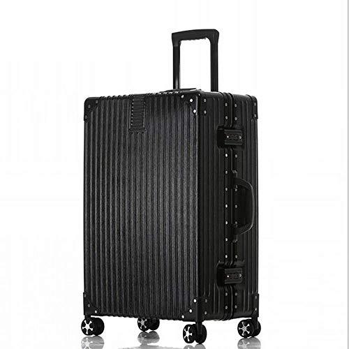 LSYOA Alurahmen Rollkoffer, Koffer Universale Schwenkrollen Ausziehbar Super Leichter Kratzfest Passwort Gepäck,C20 24 26 29