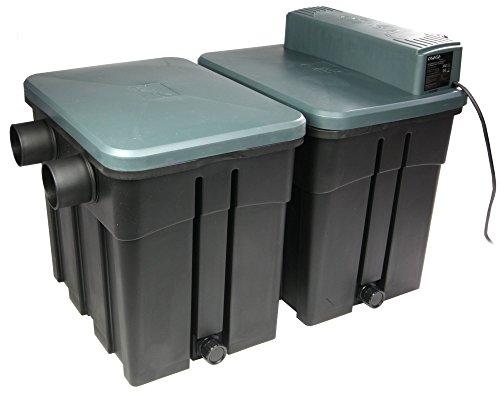 Koi-boerse Osaga compacta de Filtro para Estanque 4Sistema de cámara con UVC 18W Dispositivo fosa, OTF 16001Incl. Filtro Material