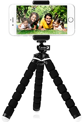 Flexible Phone Tripod – Smartphone Tripod for iPhone, Cell Phone, Android, Digital Camera & Webcam – Gorilla Tripod Mini Stand for Any Smartphone + FREE USER E-BOOK