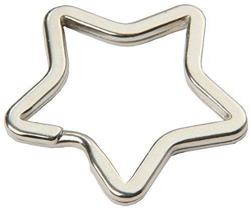 SBS® Schlüsselringe | in Sternform | 10 Stück | glanzvernickelt und gehärtet