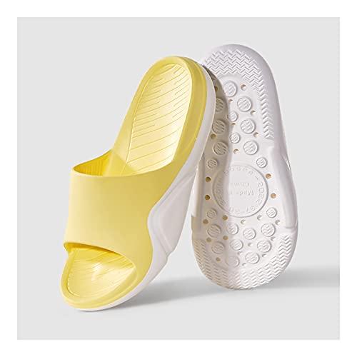 Zapatos de Playa y Piscina Zapatillas para mujeres y hombres Moda Fondo suave EVA EVA Punta abierta Soft Skink Shower Spa Bath Bath Pool Gym House Sandalias para interiores y exteriores Sandalia Mujer