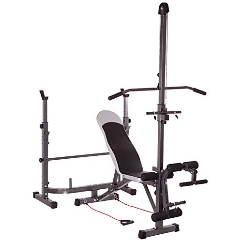 Weight Bench Height Adjustment Bench Press for Home Gym Weightlifting Dumbbell Bench with Dumbbell Rack Household Abdominal Muscles Fitness Bench Sit-ups Fitness Equipment