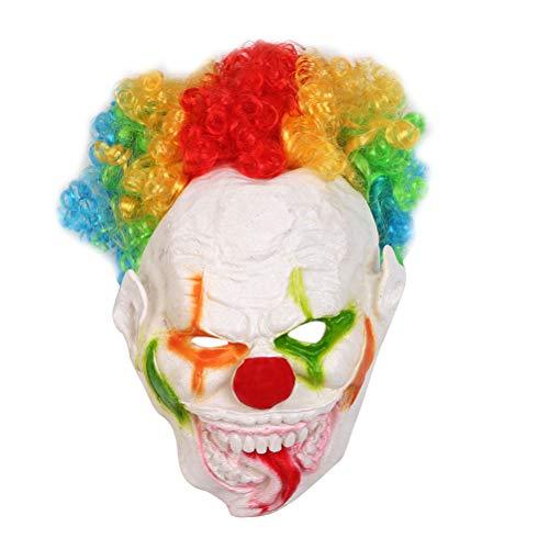 Amosfun Fiesta de Halloween Boca Grande Lengua Larga Forma de Payaso Máscara Divertida Mascarilla Cosplay Disfraces de Disfraces de Fiesta Mascarilla de Rendimiento Horrible Suministros para Fiestas