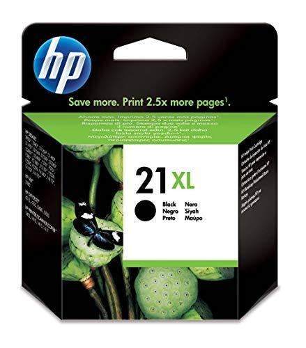 HP 21XL C9351CE Cartuccia Originale per Stampanti a Getto di Inchiostro, Compatibile con Deskjet D1530, D1560, D2360, D2460, F2290, F335, F2180, F380, F390, F4180 e Officejet 4315, 4335, Nero