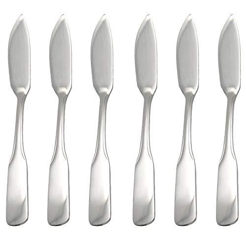 GRÄWE® Fischmesser 6 Stück, Serie SPATEN aus Edelstahl