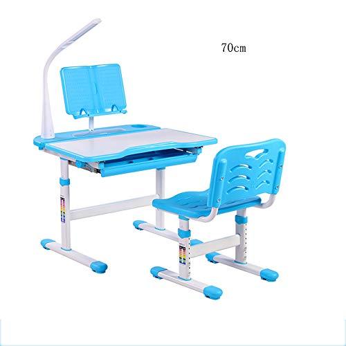 FEI Set de table pour enfants Set de table d'étude pour enfants, réglable en hauteur, rose, bleu (Couleur : Bleu, taille : 70cm-C)
