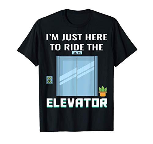 Camiseta divertida de ingeniero mecánico de ascensores Camiseta
