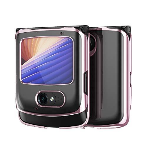 Hülle für Motorola razr 5G,Transparent PC Handyhülle Rückseite für Motorola razr 5G,Muster 9