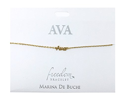 SYMBOLOGY Personalised Name Chain Bracelets Gold Plated - Ava