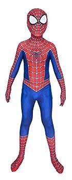 Riekinc Superhero Zentai Bodysuit Halloween Kids Cosplay Costumes Blue